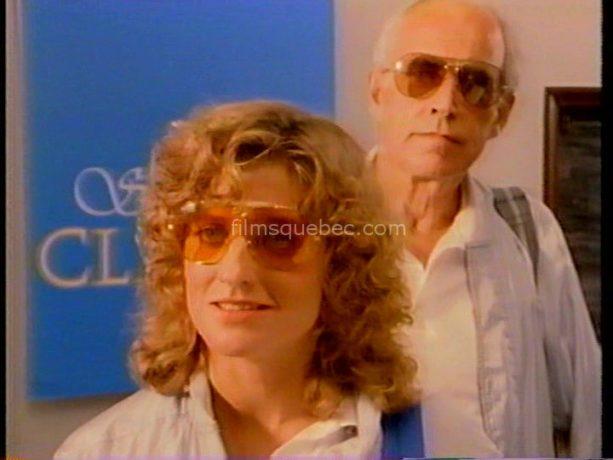 Elizabeth Bellm et George R. Robertson dans Sunset Court (Dernier match au soleil couchant) de Marc F. Voizard