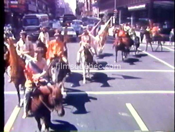 Image extraite du film Ty-Peupe de Fernand Bélanger - Les indiens débarquent en ville