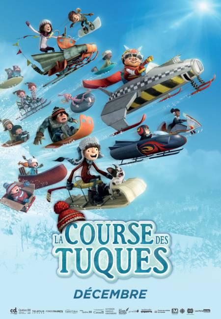 première affiche de La Course des Tuques, nouveau film d'animation 3D qui sera sur nos écrans dès décembre 2018
