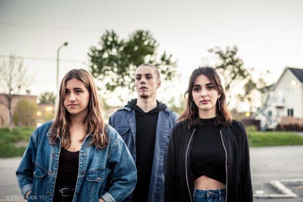 Photo du film À nous l'éternité avec Léa Jaouich, Antoine Desrochers et Sarah Mottet
