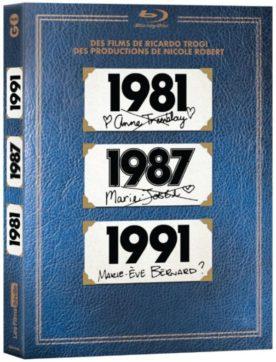 Image du coffret Blu-ray qui rassemble les trois films: 1981, 1987 et 1991