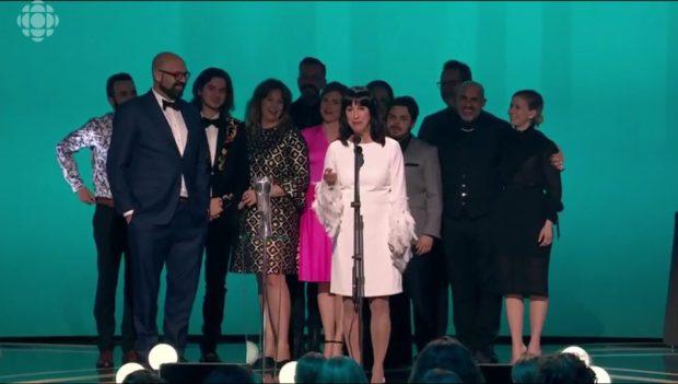 L'équipe de 1991 lors de la remise du prix du meilleur film au Gala Québec Cinéma 2019