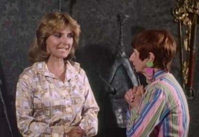 Dominique Michel et Rose Ouellette dans Les Aventures d'une jeune veuve (Roger Fournier 1974)