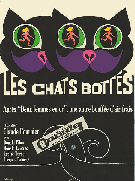 Affiche originale du film Les chats bottés de Claude Fournier