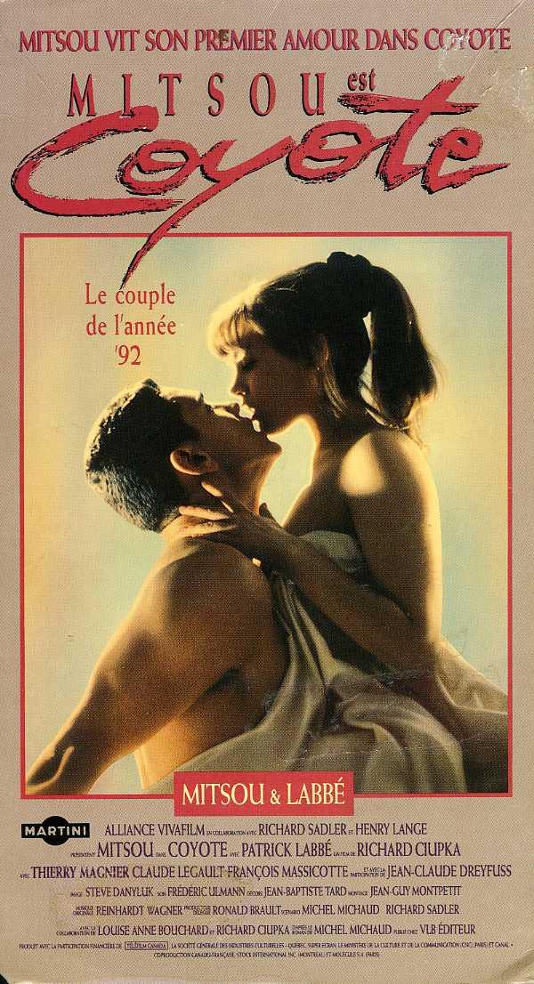 Jaquette de la VHS originale du film Coyote (Coll. filmsquebec.com)