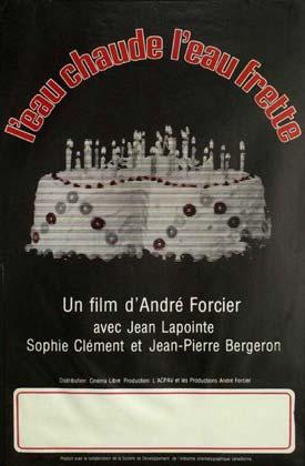 Affiche du film L'eau chaude l'eau frette d'André Forcier (source: moviecovers)