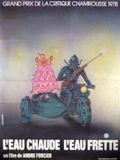 Affiche alternative du film L'eau chaude l'eau frette d'André Forcier (1976 - Coll. Cinémathèque québécoise)
