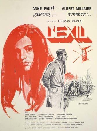 Affiche du film Exil de Thomas Vamos (Coll. cinémathèque Québécoise)