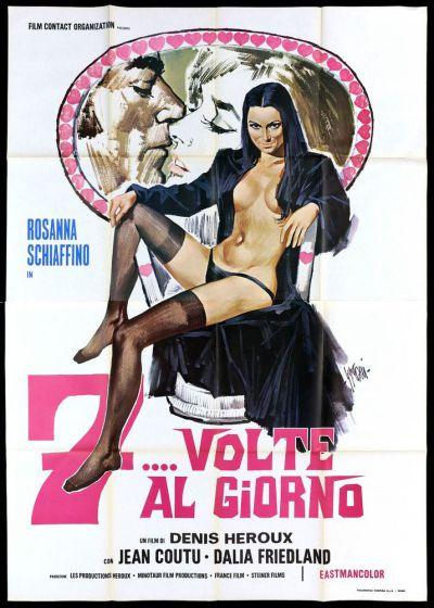 Affiche italienne du film 7 fois par jour (titre 7... volpe al giorno)
