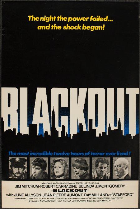 Affiche du film de série B Blackout d'Eddy Matalon (photo fournie par courtoisie, Cinépix)
