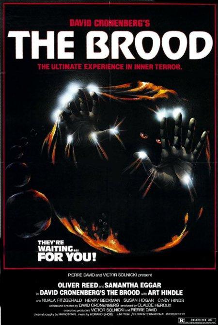 L'une des nombreuses affiches du film The Brood de David Cronenberg