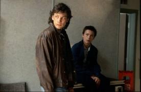 Image de Danny Gilmore (g.) et Maxime Dumontier (d.) dans Gaz Bar Blues de Louis Bélanger