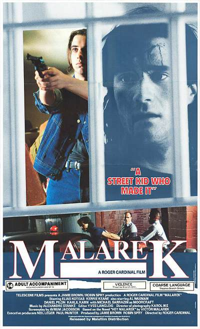 Affiche anglaise du film Malarek de Roger Cardinal (1989)