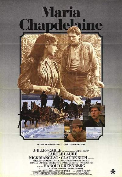 Affiche québécoise du film Maria Chapdelaine de Gilles Carle