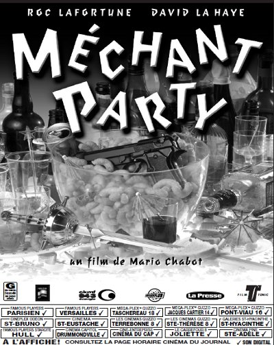 Encart de presse du film Méchant Party de Mario Chabot
