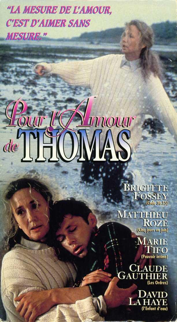 Jaquette de la VHS du téléfilm Pour l'amour de Thomas