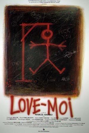 Affiche du film Love-moi (réal. Marcel Simard - Coll. Cinémathèque québécoise)