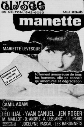 Manette ou les dieux de carton – Film de Camil Adam
