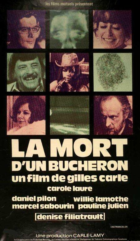Jaquette VHS du film La mort d'un bûcheron
