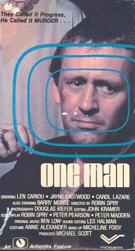Jaquette de la VHS du film One Man de Robin Spry