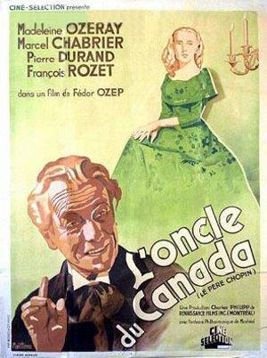 L'une des affiches françaises du film L'Oncle du Canada (Le Père Chopin) de Fedor Ozep