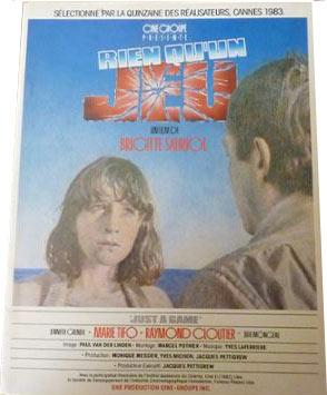 Affiche du film Rien qu'un jeu de Brigitte Sauriol