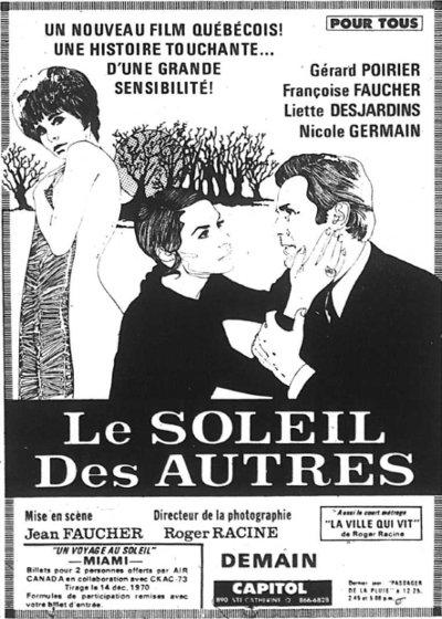 Encart La Presse du film Le soleil des autres de Jean Faucher (parution 3 décembre 1970)
