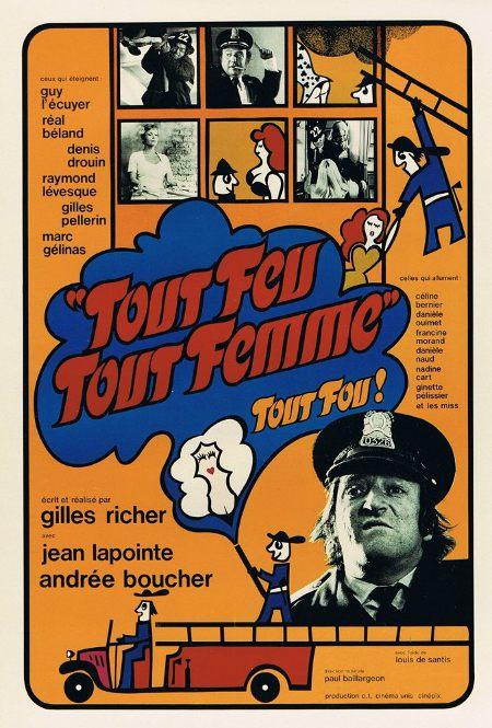 Affiche du film Tout feu tout femme (Gilles Richer, 1975)
