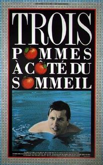 Affiche du film Trois pommes à côté du sommeil de Jacques Leduc (Coll. Cinémathèque Québécoise)