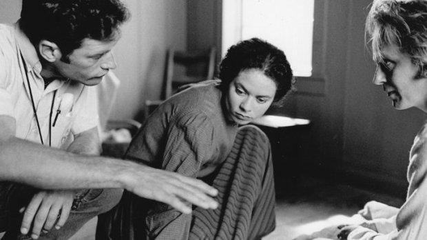 Photo de tournage du film Le secret de Jérôme (Phil Comeau, Myriam Cyr et Denis Lapalme)