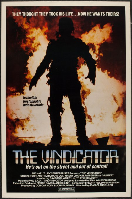 Affiche canadienne anglaise du film The Vindicator de Jean-Claude Lord (courtoisie Cinépix)