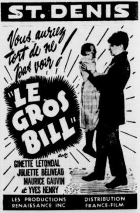 Gros Bill, Le – Film de René Delacroix et Jean-Yves Bigras