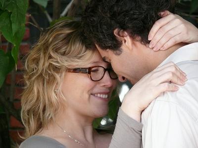 Isabelle Blais et David Savard lors du tournage ©Alliance Atlantis