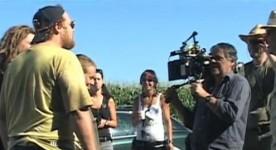 Antoine Bertrand (à gauche) est un gentil simplet dans le film 4 soldats de Robert Morin