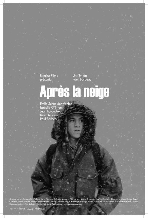 Affiche du film Après la neige de Paul Barbeau