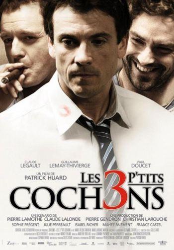 Affiche québécoise du film Les 3 p'tits cochons