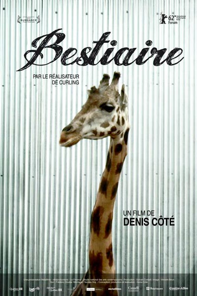 Affiche française du film Bestiaire (D. Côté, 2012, dist. Contre-Allée)