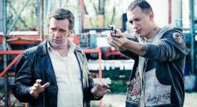 Samian (d) et Roger Léger (g) dans Roche Papier Ciseaux de Yan Lanouette Turgeon (2013, Filmoption International)