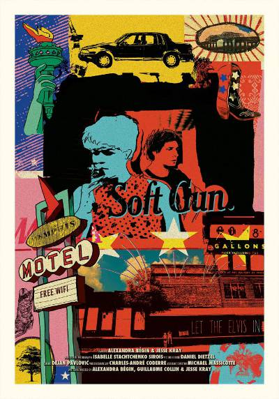 Affiche du road movie indépendant Soft Gun (Alexandra Bégin, Guillaume Collin, Jesse Kray) - 2013
