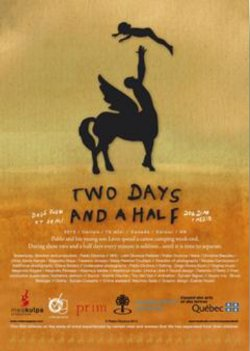 Affiche anglaise du film Deux jours et demi de Pablo Diconca