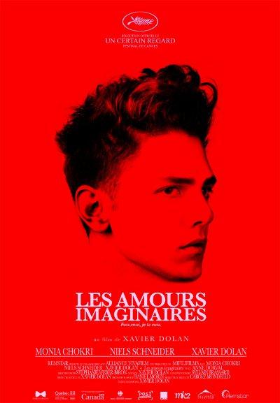 Affiche rouge du film Les amours imaginaires de Xavier Dolan (2010, Remstar, MK2)