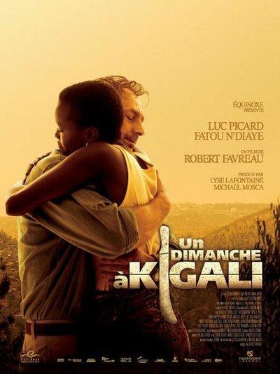 Affiche du film Un dimanche à Kigali de Robert Favreau (2006 - Équinoxe Films)