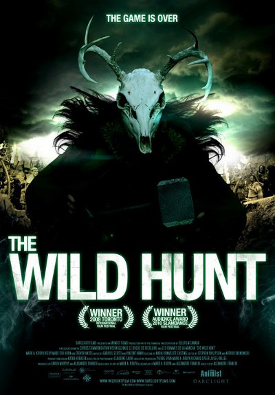 Affiche internationale du film anglo-québécois The Wild Hunt (Alexandre Franchi, 2010, Animist Prods)