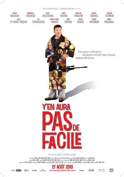 Affiche version Rémy Girard du film Y'en aura pas de facile (Lavoie, 2010, Séville)