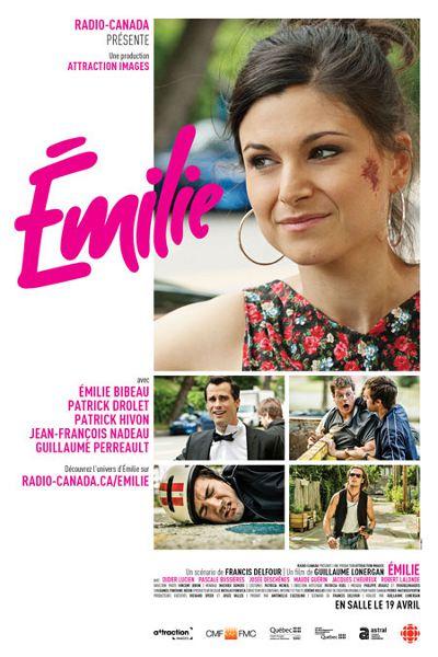 Affiche de la comédie romantique Émilie de Guillaume Lonergan