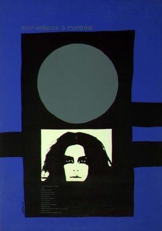 Affiche du film Mon enfance à Montreal (Jean Chabot, 1971 - Source affiche: Cinémathèque québécoise)