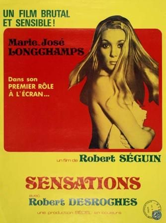 Affiche de Sensations de Robert Séguin (Coll. Cinémathèque québécoise)