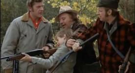 Le temps d'une chasse de Francis Mankiewicz (L'Écuyer au centre, Sabourin à droite)