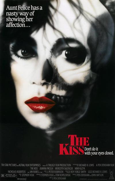 Affiche américaine du film d'horreur The Kiss (Densham, 1988)