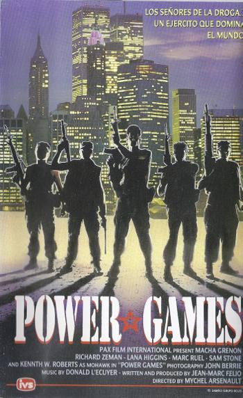 Image de la jaquette VHS espagnole du film power Games